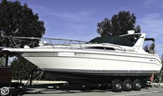 Well maintained with many updates.Tri-axle trailer, Twin 205hp 4.3LX Mercruisers.