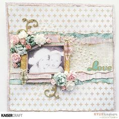 'Christmas Wishes' layout by Kylie Kingham Design Team member for Kaisercraft using 'Christmas Wishes' collection ~ Wendy Schultz ~ Christmas Layouts. Christmas Scrapbook Layouts, Birthday Scrapbook, Scrapbook Page Layouts, Baby Scrapbook, Scrapbook Cards, Scrapbook Expo, Album Vintage, Vintage Scrapbook, Christmas Blessings