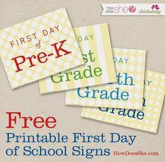14 FREE Back to School Printables