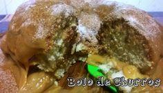 Gurias adaptei uma receitinha de Bolo de Churros que eu tinha,para caber certinho na Cake Maker … fiz inclusive o Doce de Leite em casa!!