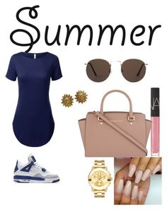 """""""Summer Inspired look !"""" by baybeebrii on Polyvore featuring NIKE, NARS Cosmetics, MICHAEL Michael Kors, Movado, MANGO and Chanel"""
