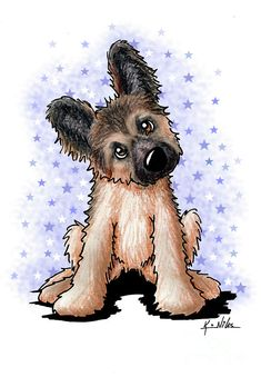 Browse through images in Kim Niles' Other Dogs collection. Other dog breed illustrations - ALL Art Images © Kim Niles - All Rights Reserved. Dog Illustration, Watercolor Illustration, Puppy Drawing, Shepherd Puppies, Marker Art, Cartoon Pics, Dog Art, Animal Drawings, Pet Portraits
