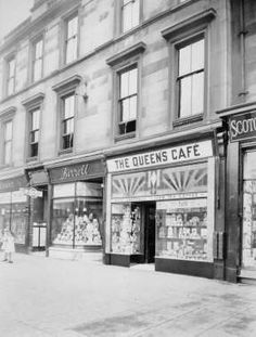 The Queens Cafe, 517 Victoria Rd, Govanhill, Glasgow Southside Scotland History, Glasgow Scotland, The Second City, 2nd City, Old Pictures, Old Photos, Glasgow City, Vintage Photographs, Great Britain