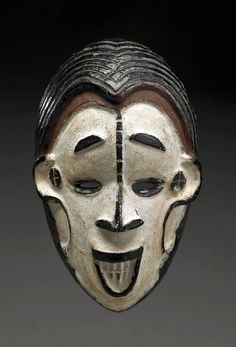 Africa | Ibo wood face mask from the Igbo people of Nigeria | Wood and pigment
