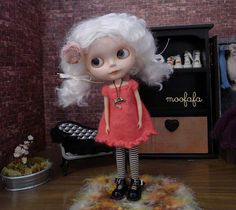 Blythe HOT PINK Sweater Dress  short by moofafa
