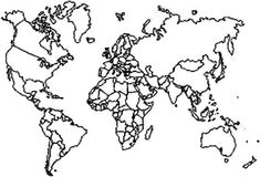 Educate Student With World Map Coloring Page : Kids Play Color