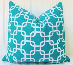 Turquoise Pillow Covers Turquoise Pillow by MariaClaireInteriors
