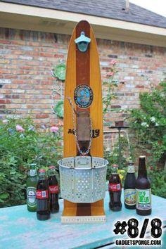Series Of 8 Repurposed Upcycled Vintage Wooden Water