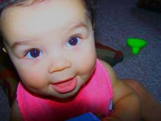 Mixed babies ❤ scary part is I have a baby pic just like this