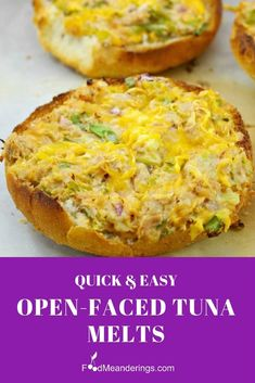 These quick and easy Open-faced Tuna Melts are made with cream cheese, no mayo, a little kick from the jalapenos and are the perfect last minute dinner or lunch. You can make them ahead and reheat, so they're also perfect for the lunch bag! Canned Tuna Recipes, Fish Recipes, Lunch Recipes, Seafood Recipes, Dinner Recipes, Cooking Recipes, Canned Meat, Healthy Recipes