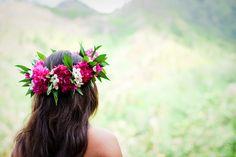"""Romantic-bridal-style-floral-head-wreath-destination-weddings.original""------pinned by Annacabella"