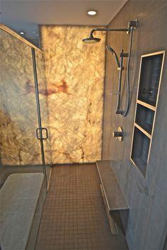 Brilliant Open shower remodel tricks,Fiberglass shower remodeling bathroom makeovers tips and Shower remodel diy walk in tricks. Onyx Shower, Bathroom Shower Panels, Bathroom Showers, Bathrooms, Shower Walls, Master Shower, Master Bath, Lavabo Exterior, Tub To Shower Remodel