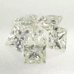 0.045 ctw Yellow -Y1 VS2 Clarity 2.04x1.74x1.46 mm Princess Cut Natural Diamond