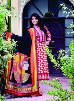 Traditional hand-crafted salwar kameez for festive season 2014