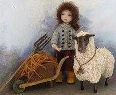 """I-Love-Ewe ...1st place doll in 2012 International Felting Contest on """"Living Felt"""" website"""
