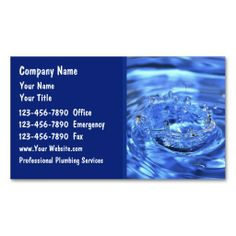 Blueprint professional construction business card these custom plumbing business cards malvernweather Gallery