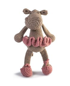 Toft Georgina  the Ballerina Hippo amigurumi crochet kit
