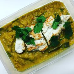 Daal with grilled chicken