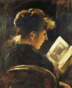 Girl Reading // by Lovis Corinth (German painter, 1858-1925)