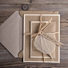 Eco Wedding Invitations 10 Recycling Paper  por 4invitationwedding