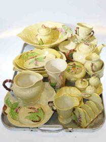 Carlton Ware lemon foxglove pattern. Vintage Crockery, Vintage China, Antique China, China Teapot, Carlton Ware, Little's Coffee, Punch Bowls, Tea Service, Chocolate Pots