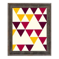 """Click Wall Art Triangle System Red Framed Graphic Art on Canvas Size: 27.5"""" H x 23.5"""" W x 1"""" D"""