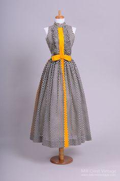 1970's Bonwit Teller Tuxedo Style Vintage Evening Dress : Mill Crest Vintage