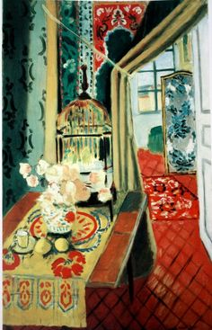Interior with a Bird Cage by Henri Matisse.  ALONGTIMEALONE