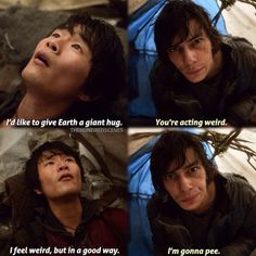 """S1 Ep8 """"Day Trip"""" - Monty and Jasper. <--- about sums up best friends conversations."""