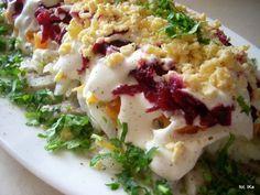 Smaczna Pyza: Śledzie pod pierzynką czyli szuba Polish Recipes, Polish Food, Christmas Cooking, Appetisers, Antipasto, Summer Salads, Seafood, Food And Drink, Cooking Recipes