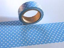 Washi Masking Tape blau hellblau PUNKTE