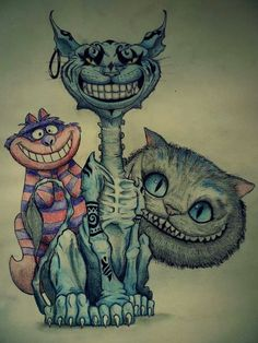 The 3 different Cheshire Cats