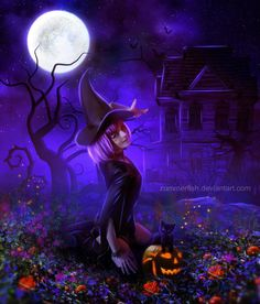 """""""Samhain is finally here, the veils are thin and our sight is clear, take a deep breath and show no fear, for those we have loved and to our hearts held dear, will tonight come to us and our sides be near.""""  - Jasmeine Moonsong   **original artwork by: Zummerfish http://zummerfish.deviantart.com/**   http://wiccanmoonsong.blogspot.com/2013/10/daily-message-october-31-2013.html"""