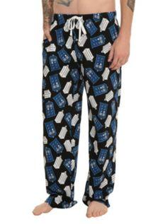 2fa5276e9e Doctor Who TARDIS Logo Guys Pajama Pants Doctor Who Gifts