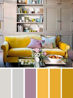 Grey and mustard sitting room | home color ideas , Grey and mustard ,color inspiration #color