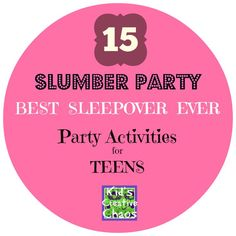 A teenage girl sleepover party with fun games, activities, and swag bags is the best slumber party ever! Don't just read these titles #teenbirhtdaypartyideas