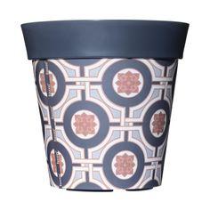 Hum - Hum plastic outdoor plant pot - grey tile, 22cm, £13.00 (http://www.hum-partnership.com/hum-plastic-outdoor-plant-pot-grey-tile-22cm/)