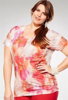 44 Faded Floral Tunic Tee | Plus Size Tunics | Avenue