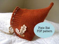 Pixie Hat - PDF Pattern - Autumn Leaves
