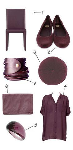 Plum- I rocked a satiny plum shirt & plum pointy-toe BCB Girl Mules w/shiny-dressy bermuda shorts for a meeting today :)