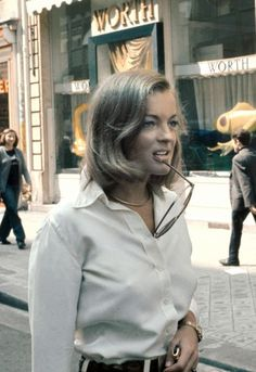 Romy Schneider in Paris, 1972.