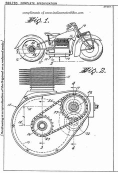 1943 - Shaft Drive For Motorcycles - Indian - G. Wall Art Decor, Wall Art Prints, Poster Prints, Tesla Patents, Patent Drawing, Motorcycle Art, Patent Prints, Compass Tattoo, Vintage
