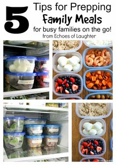 Echoes of Laughter: 5 Tips For Prepping Meals For Busy Families On the Go! Meal Prep Plans, Easy Meal Prep, Healthy Meal Prep, Quick Meals, Freezer Meals, Food Prep, Healthy Eats, Healthy Family Meals, Kids Meals