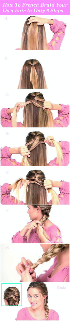 Easy Braided Hairstyles Tutorials: Trendy Hairstyle for Straight Long Hair - Hair Styles French Braid Hairstyles, Braided Hairstyles Tutorials, Trendy Hairstyles, French Braids, Hairstyle Ideas, Beautiful Hairstyles, Hair Tutorials, School Hairstyles, Long Haircuts