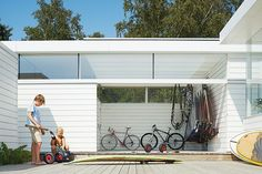 """The family are avid fans of watersports of all stripes: """"Windsurfing and the stand-up paddling board—the beach is right outside,"""" says Henrik. """"It's a fun house. Surf House, Beach House, Beach Bungalows, Beach Shack, Beach Cottages, Decoration, Building A House, Build House, New Homes"""