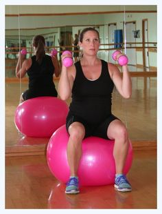 Pregnancy workout with exercise ball. Wish I'd seen this months ago.