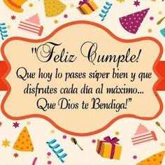 Happy Birthday Wishes Spanish, Happy Birthday Mother, Happy Birthday Wishes Quotes, Happy Birthday Wishes Cards, Birthday Blessings, Happy Wishes, Happy Birthday Images, Happy Quotes, Birthday Frames