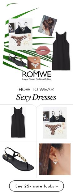 """ROMWE #2"" by gamer-girl1523 on Polyvore featuring MANGO, IPANEMA and Lime Crime"