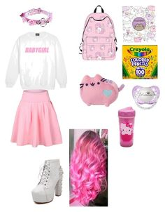 """Ddlg"" by andy-myers ❤ liked on Polyvore featuring AiSun, Pusheen, Crayola, Gund and Hello Kitty"