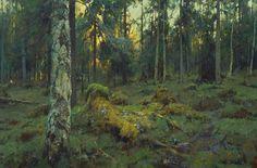 Northern Forest - oil, canvas, Yuri Vasendin